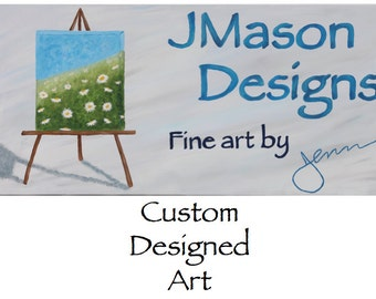 Custom Designed Artwork - Acrylic on Gallery Wrapped Canvas