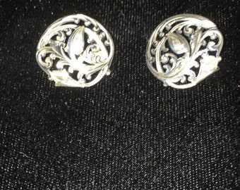 Victorian Sterling Silver Clip On Earrings