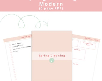 Spring Cleaning (Modern) Printables