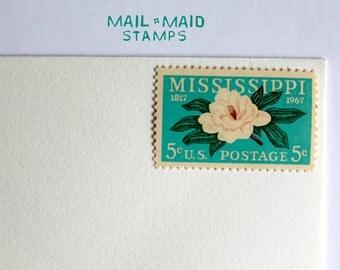 Mississippi Statehood || 10 unused vintage postage stamps