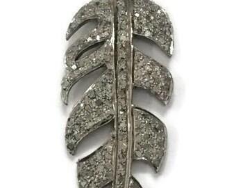 All Diamond Leaf Pendant
