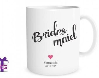 Bridesmaid Mug Gift, Mug Gift Bridesmaid, Bridesmaid Gift Mug, Coffee Mugs, Coffee Mug, Mugs For Bridesmaids, Bridesmaid Mugs, Wedding Mug