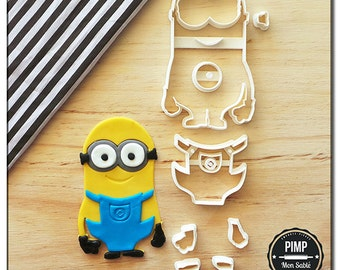 Cookie Cutter 3D Minions Kévin / Set fondant