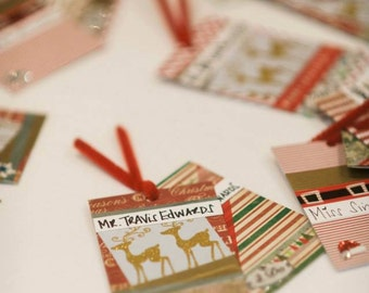 Christmas wedding place cards