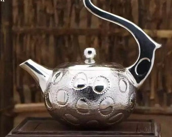 Handcrafted Fine Silver Teapot