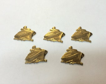 Brass Stamping - Brass Cruise Ship - Set of 5