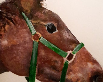 A3 Acrylic Horse Painting