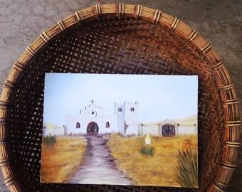 small southwestern santa fe church   iglesia painting