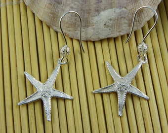 Starfish earrings in 925 sterling silver