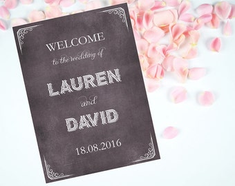 Rustic Wood Wedding Signs, Choose Background color, Personalized Wedding Welcome Sign, Wedding Accessory