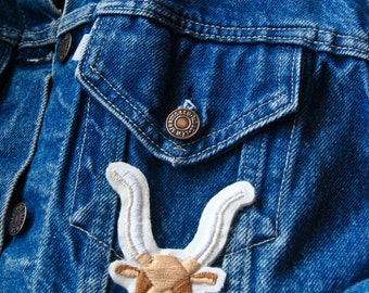 Longhorn Patch – Hand Embroidered