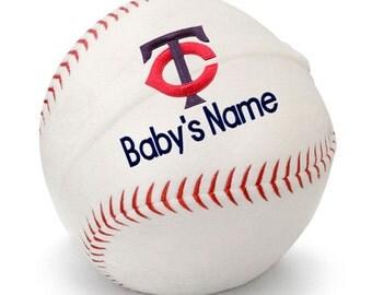 Personalized Baby Minnesota Twins Plush Baseball