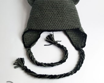 12-24month toddler crochet Kitty Cat beanie.