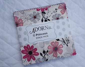 Princess - Charm Pack - 42 pieces - By Adornit Fabric