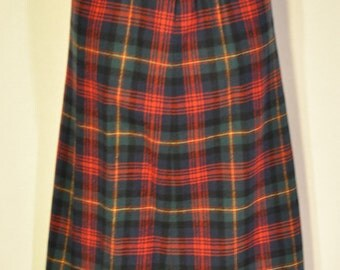 Women's Vintage Plaid Skirt