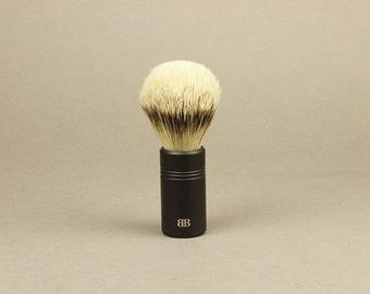 Anodized Aluminum Handle Shaving Brush, Anodized Aluminum Shaving Supplies, Natural Bristle Shaving Brush, groomsmen gift, shaving gift