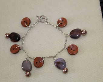 Button and Bead Chain Bracelet