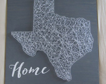 Texas State String Art *Made-to-Order*