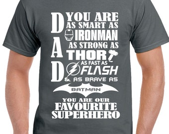 "Dad ""Our"" Favourite Superhero - Mens Funny T-Shirt Father's Day 1491"