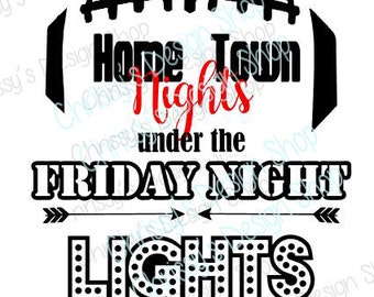 Football svg cut file / friday nights svg / football svg / friday night lights svg / Homecoming svg / vinyl crafts / football clip art
