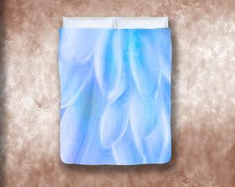 Blue Petals Bed Duvet Cover