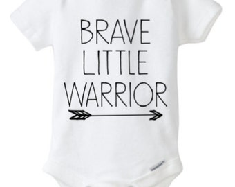 Brave Little Warrior Onesie, White Onesie, Brave Boy, Baby Warrior, Baby Boy, Boy Mom, All Boy