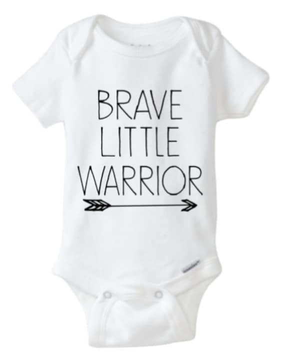 Brave Little Warrior esie White esie Brave Boy Baby