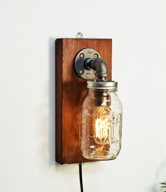 Industrial Sconce Light Lamp Mason Wall Light Lamp Steampunk