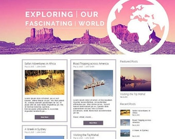 Ready Made Wix Travel Blog Template