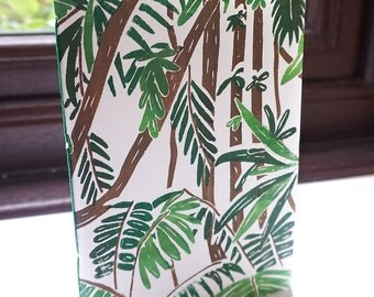Handmade A6 Rainforest Notebook