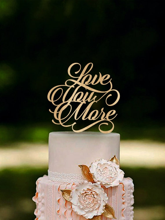 s mores wedding cake topper you more wedding cake topper wooden cake topper 20256