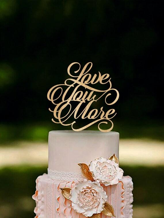 Wedding Cake Topper Wooden Cake Topper Elegant Wedding Cake Topper