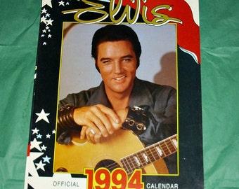 Elvis Presley Official 1994 Danilo Calendar Music Memorabilia Vintage Collectable Rock N Roll Are You Lonesome Tonight Singer Actor King