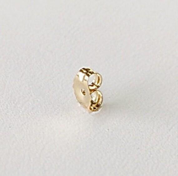 14k Solid Yellow Gold Earring Backs 2 Piece Light Ear