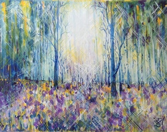 Painting Artwork Original Canvas 'Forest Dreaming'