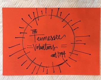Tennessee Volunteers print