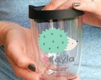 Personalized Hedgehog Mug - Hedgehog Lover Travel Wine Tumbler