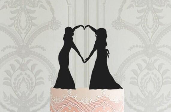 READY TO SHIP Lesbian Wedding Cake Topper Mrs Mrs Cake