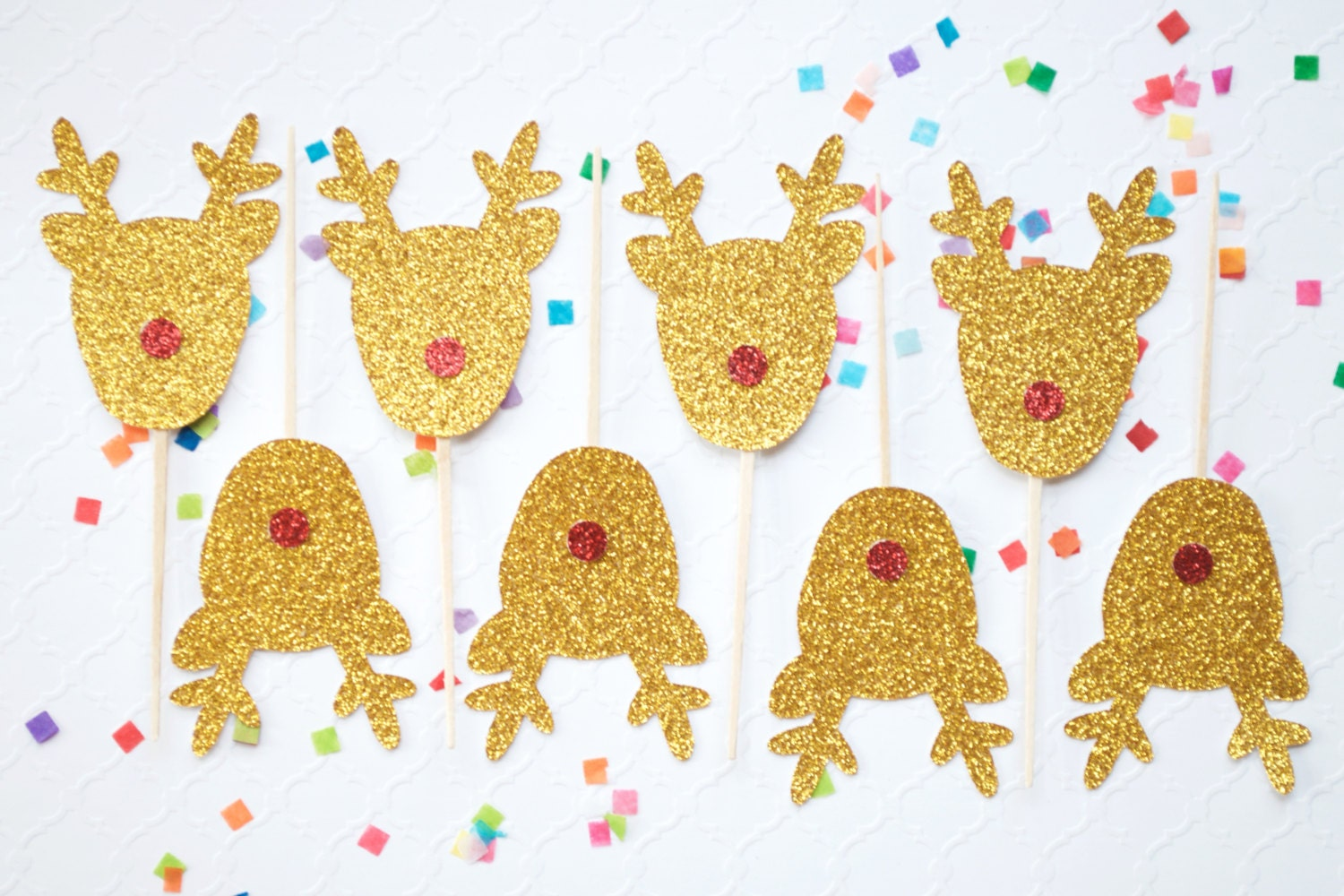 Hor D Oeuvres Ideas 12 Christmas Reindeer Cake Topper Red Nose Cocktail