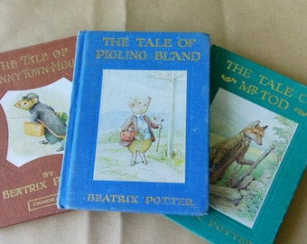 lovely small collection of three Beatrix Potter books