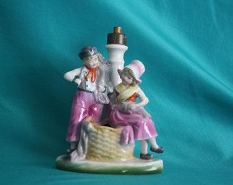 Antique Porcelain figural Germany lamp German # 5387