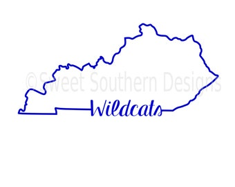 Kentucky outline wildcats SVG instant download design for cricut or silhouette
