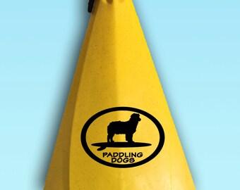 Australian Shepherd Dog Vinyl SUP Kayak Canoe Car Sticker Decal Original Design by Paddling Dogs