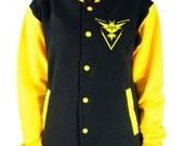 Team Instinct KIDS Varsity College Jacket - Pokemon Go Inspired Boys & Girls Team Mystic Team Valor Top