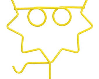 Sun with Glasses Yard Stake-48""
