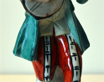 "Vintage ""Lute Player"" Occupied Japan Figurine"