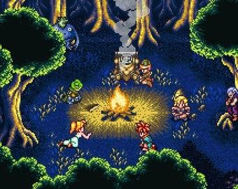 Chrono Trigger Campfire Poster