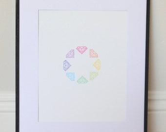 Diamond Circle Print