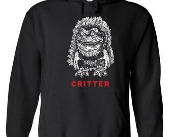 Critter crites movie 80s krites aliens ufo movie creepy slasher horror vintage retro - Apparel Clothing - Hoodie - Hooded Sweatshirt - 245