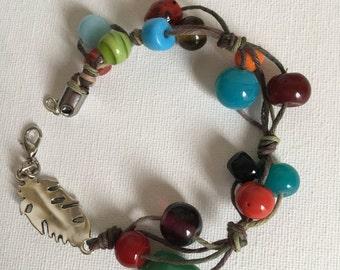Color Pop Hemp Beaded Bracelet
